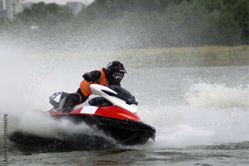 Spoed Foto op Canvas Water Motor sporten High-speed jetski