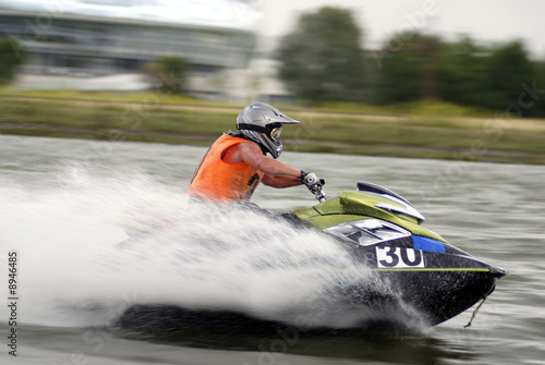 Poster Nautique motorise High-speed jetski