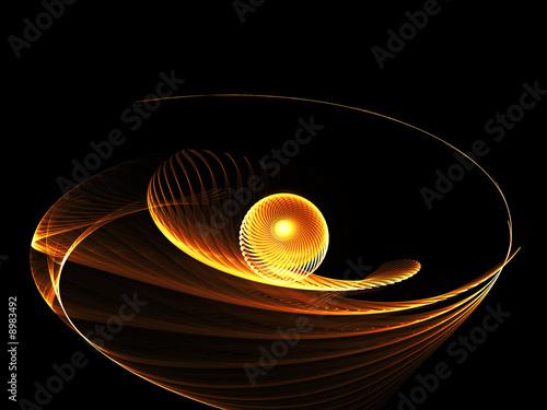 Spoed Fotobehang Spiraal Stilisierter Feuerball