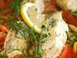 zander auf provenzalischen gemüse, bankett gastronomie