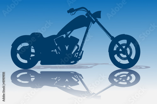 Fotografija Custom Blue Chopper