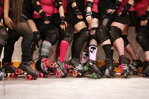 Fotografia Roller derby team