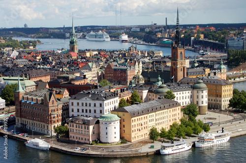 Riddarholmen island at Stockholm, Sweden Poster