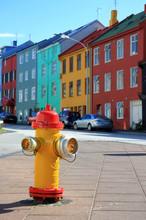 Colorful Downtown Reykjavik, Iceland.
