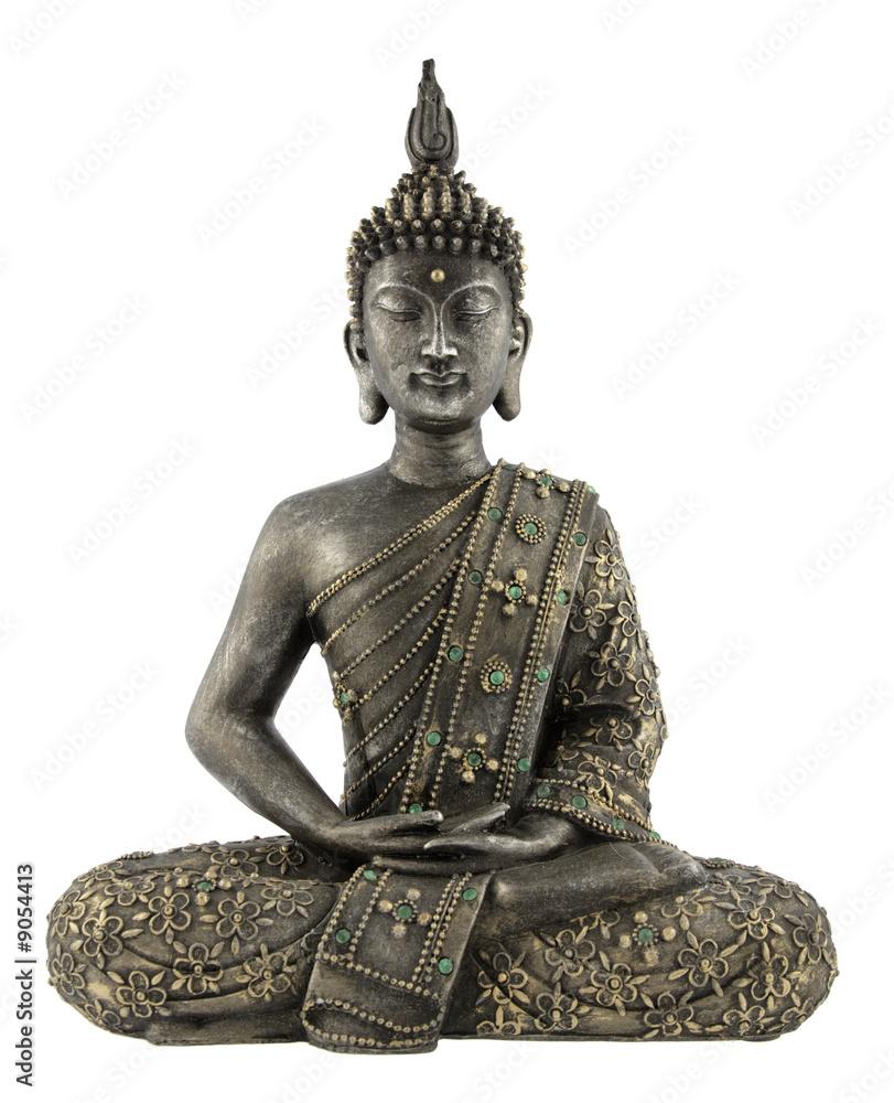 Fototapety, obrazy: Statua Buddy na białym tle