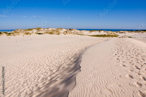 Valokuva  sandy coastline of the batic sea, poland