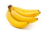 Fototapeta Fototapety do kuchni - Bunch of bananas isolated on white background