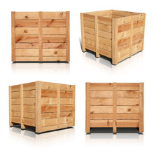 Wooden Crates - Includes An Ou...