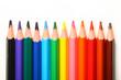 color pencil pallete macro close up