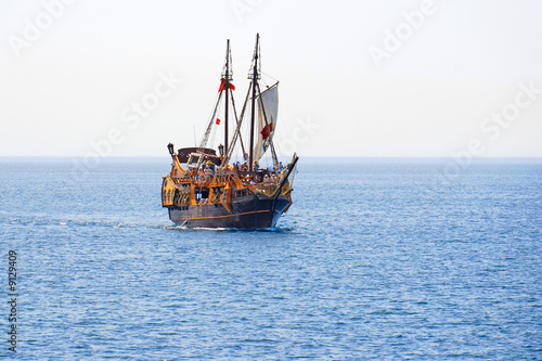 Canvas Prints Ship Tourist cruise on a pirate sailing ship
