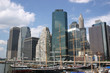 The NYC Skyline viewed from South Street Seaport