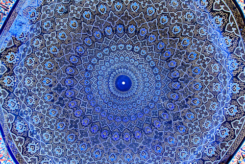 Fotografia  Dome of the mosque, oriental ornaments