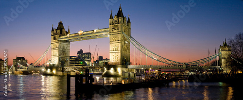 Foto-Kassettenrollo premium - Tower Bridge Panorama