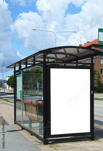 Photo  bus stop HDR