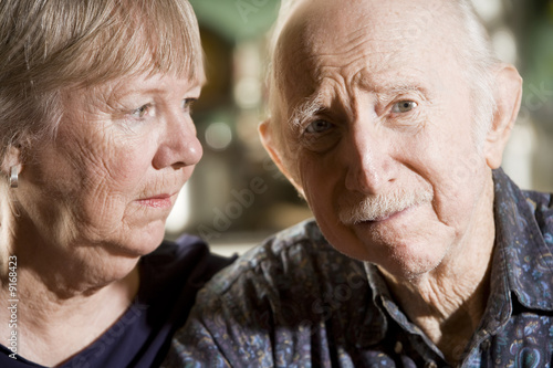 Fotografie, Obraz  Close Up Portrait of Worried Senior Couple