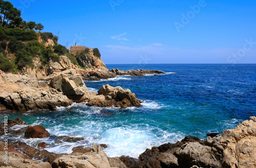 Photographie Costa Brava landscape near Lloret de Mar (Catalonia, Spain)