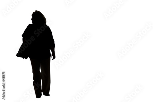 silhouette femme Canvas Print