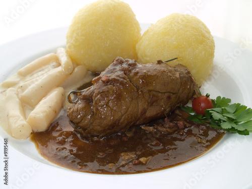 Fotografie, Obraz  roulade with potato dumpllings