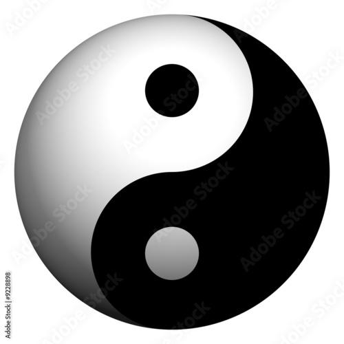 Yin Yang Sphere Slika na platnu