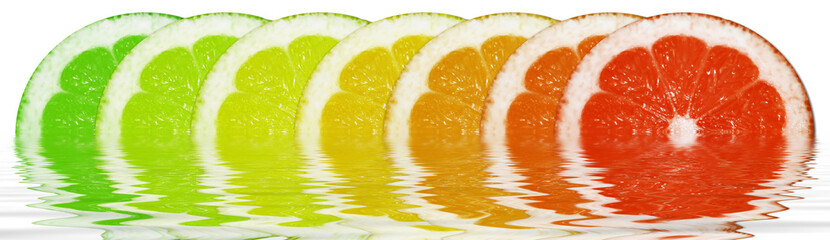 Fototapeta Owoce Circular lemons in the Water