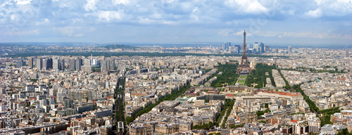Keuken foto achterwand Parijs Paris aerial panoramic view from Montparnasse tower.