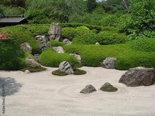 Poster Zen pierres a sable jardin zen au japon