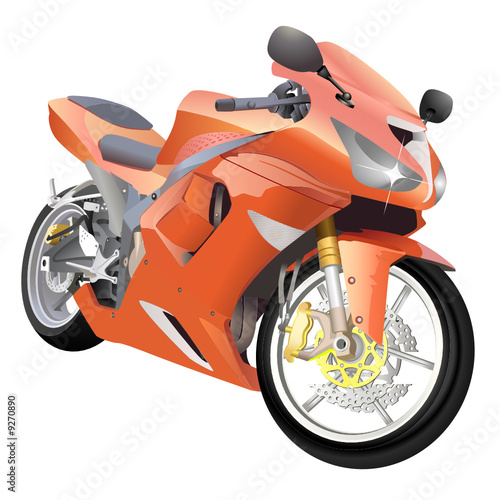 Poster Motocyclette motorcycle great details vector