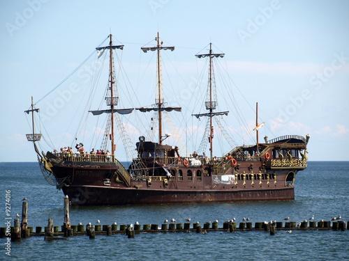 Tuinposter Schip Segelschiff, historisch