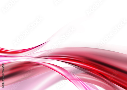 In de dag Abstract wave beauty pink wave