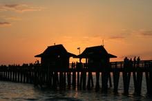 Sunset At Naples Pier Florida