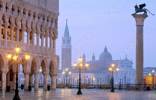 Foto-Flächenvorhang - Makusplatz Venedig Morgenstimmung