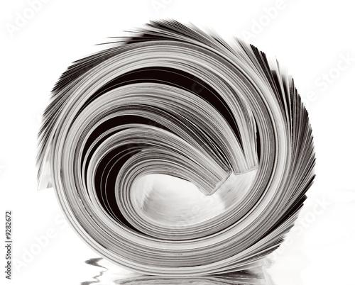 Poster Kranten rolled up magazine