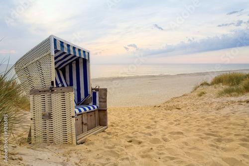Spoed Foto op Canvas Noordzee Strandkorp auf Sylt