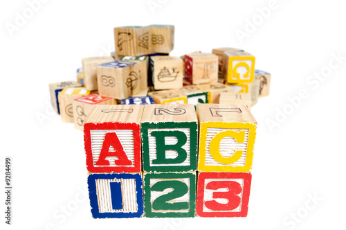 Wooden blocks spell out your future  Education and School - Buy this