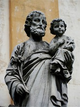 Statue Of Saint Joseph And Baby Jesus