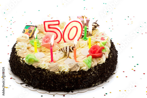 Birthday Cake For 50 Years Jubilee