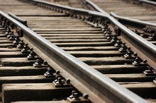 Closeup Of An Old Railway Junction.