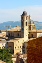 A View Of The Town Of Urbino.