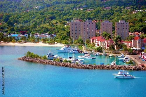 Port of Ocho Rios in Jamaica Canvas Print