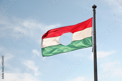 Photo  hungarian symbol flag, remember 1956