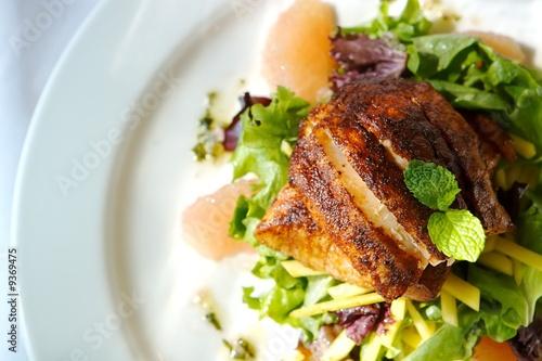 Fotografie, Obraz  An image of a gourmet fish and citrus salad