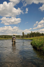 Active Senior Woman Fly-fishin...