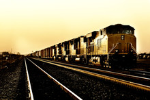 Freight Train Travelling Throu...