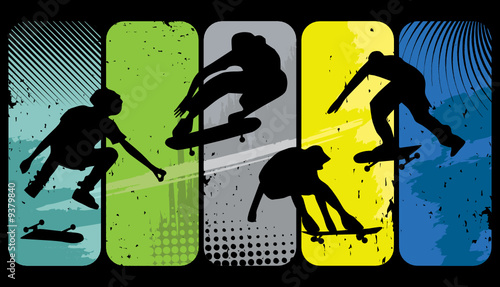 Silhouette skaters