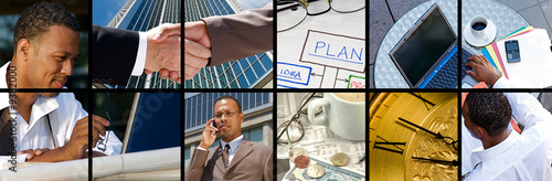 Fotografie, Obraz  Collection and Collage of modern day business