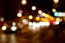 Out Of Focus Lights Of A Stree...