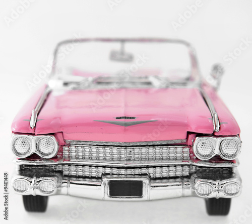 Poster Old cars pink car
