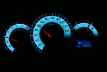 Speedometer And Rev Counter