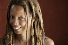Pretty African American Woman With Hair In Dreadlocks