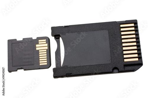 Fototapeta telephone memory card expressed on white background obraz na płótnie